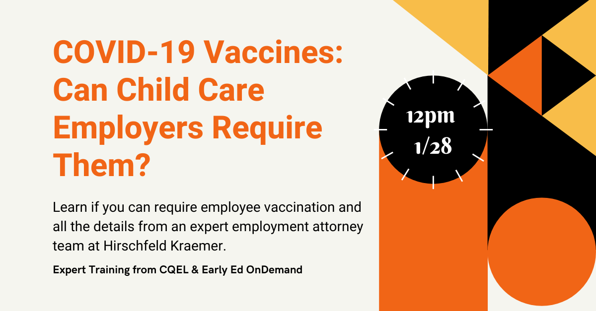 New training: Can child cares require employees to vaccinate?