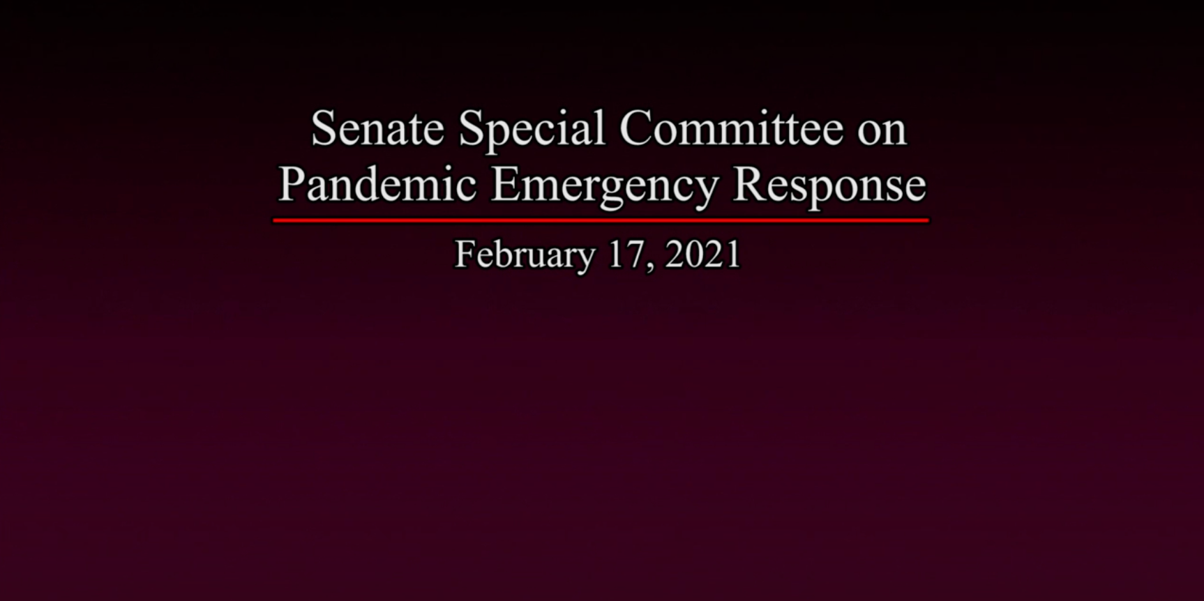 CQEL Senate Testimony: Special Committee on Pandemic Emergency Response
